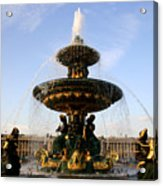 Fountain In Paris Acrylic Print