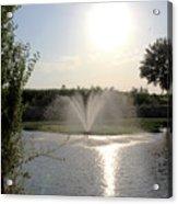 Fountain In The Garden Acrylic Print