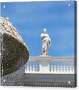 Fountain In The Piazza Acrylic Print