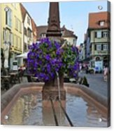 Fountain In Wertheim, Germany Acrylic Print