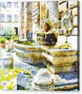 Fountain On The Facade Of The Municipality Acrylic Print