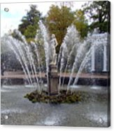 Fountain On The Grounds Of The Peterhof Grand Palace Acrylic Print