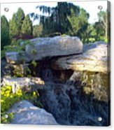 Fountain Out Of Rocks Acrylic Print