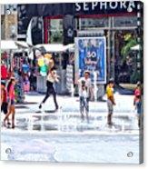 Fountain Party Acrylic Print