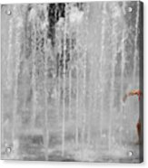Fountain Play One Acrylic Print