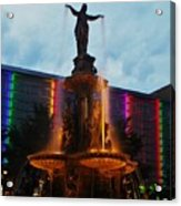 Fountain Square Acrylic Print