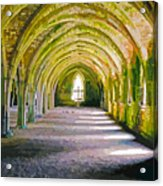Fountains Abbey, Vaulted Chamber Acrylic Print