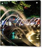 Fountains At Columbus Circle Acrylic Print