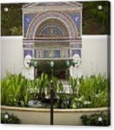 Fountains At The Getty Villa Acrylic Print