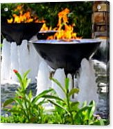 Fountains Of Fire Acrylic Print
