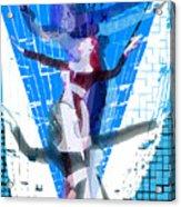 Four Blue Angels Acrylic Print