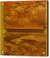Four Brown Panels Acrylic Print