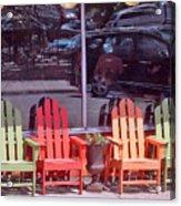 Four Chairs Acrylic Print
