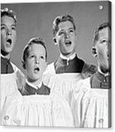 Four Choir Boys Singing, C.1950-60s Acrylic Print