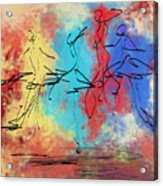 Four Dancers Acrylic Print