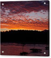 Four Elements Sunset Sequence 2 Coconuts Qld Acrylic Print