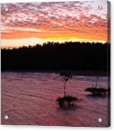 Four Elements Sunset Sequence 5 Coconuts Qld  Acrylic Print