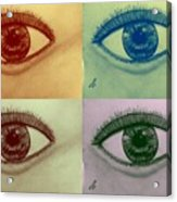 Four Eyes In Pop Art Acrylic Print