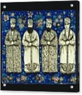 four grandees associated with the court of Nasir al-Din Shah Acrylic Print