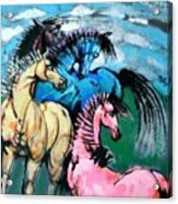 Four Horses Acrylic Print