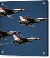 Four In Flight Acrylic Print