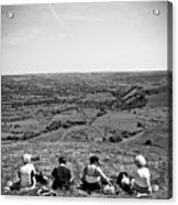 Four Ladies On A Hill Acrylic Print by Meirion Matthias