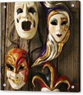 Four Masks Acrylic Print