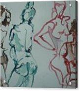 Four Nude Figures Acrylic Print