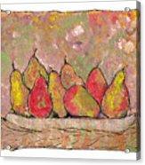 Four Pair Of Pears Acrylic Print