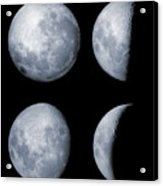 Four Phases Of The Moon Acrylic Print by Rolf Geissinger