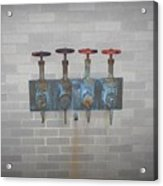 Four Pipes Acrylic Print