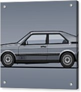 Four Rings Coupe Gt B2 Stone Grey Metallic Acrylic Print