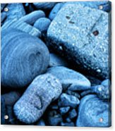 Four Rocks In Blue Acrylic Print