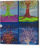 Four Seasons Trees By Jrr Acrylic Print