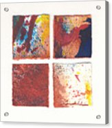 Four Squares Red Flow Acrylic Print