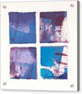 Four Squares Turquoise Flow Acrylic Print