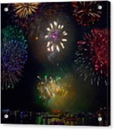 Fourth Of July Fireworks Acrylic Print