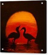 Fowl Love Silhouette Acrylic Print