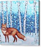 Fox Forest Acrylic Print