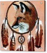 Fox Medicine Wheel Acrylic Print