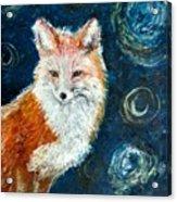 Fox Red  Painting  Acrylic Print