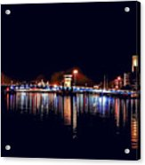 Fox River Green Bay At Night Acrylic Print