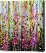 Foxgloves Large Painting Acrylic Print