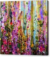 Foxgloves Panel One Acrylic Print