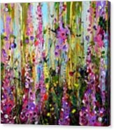 Foxgloves Panel Two Acrylic Print