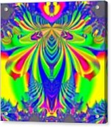 Fractal 31 Psychedelic Love Explosion Acrylic Print