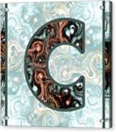 Fractal - Alphabet - C Is For Complexity Acrylic Print