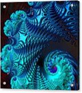 Fractal Art - Blue Wave Acrylic Print