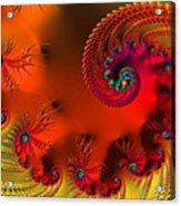 Fractal Art - Breath Of The Dragon Acrylic Print
