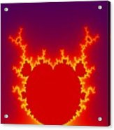 Fractal Burning Heart Acrylic Print